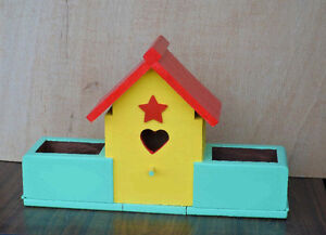 Bird House with flower planter