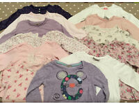 Assorted (mostly next) girls long sleeve top - size 12-18 months