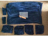 Blue velvet multiyork sofa covers