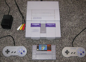 SUPER NINTENDO SYSTEM SNES & MARIO WORLD * WORKS PREFECTLY