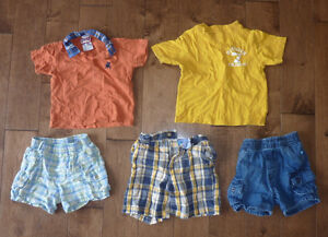 5-piece summer clothing, size 6 - 12m