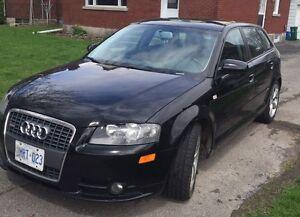 2008 Audi A3 black Hatchback