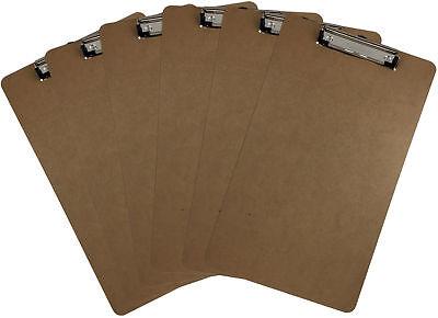 Legal Size Clipboard 9 X 15.5 Low Profile Clip Hardboard Single Pack Of 6