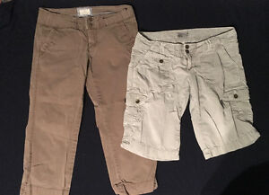 LADIES/TEENS CAPRIS AND SHORTS - SIZE 0