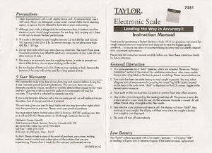 """TAYLOR Electronic Scale with Accu-Glo Backlight - Only .5"""" Thick Kitchener / Waterloo Kitchener Area image 5"""