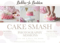 CAKE SMASH PHOTOGRAPHY $150 INCLUDES CAKE AND DIGITAL FILES!