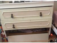 Chest of drawers wooden unit