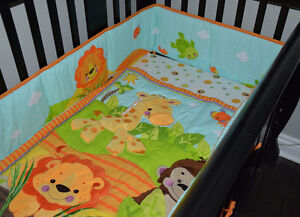 EXCLNT CONDITION: Fisher Price Precious Planet 3-Pc Crib Bedding