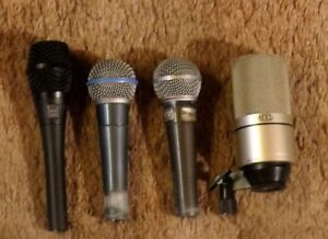 Microphones, Cables, and Effects Pedals
