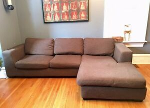 Couch with chaise lounge $175 OBO