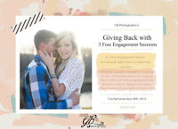 WIN 1 of 3 FREE engagement sessions!