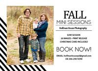 Fall photo sessions - Booking available thru October