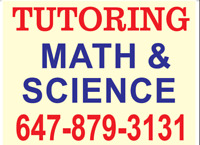 Brampton Math & Science tutor for all Grades, call@ 647-879-3131