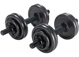 15kg Opti Cast Iron Dumbbell Weight Set
