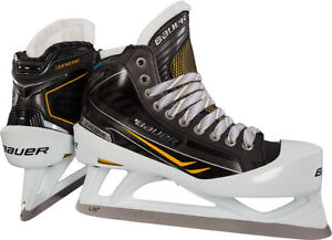 Size 6.5 Bauer goalie skates in excellent used condition