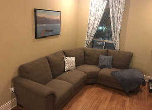 Beautiful brown sectional for sale!!!