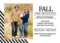 Fall Photography sessions including christmas cards - $200