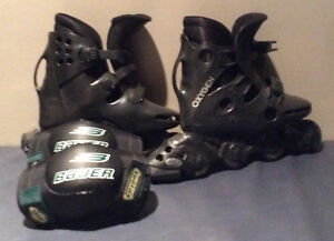 Oxygen XE03 rollerblades / with elbowpads