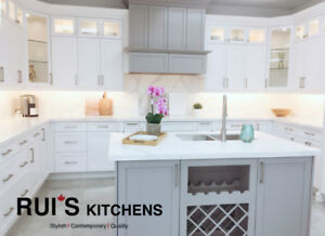*Special*Solid Wood White/Grey Shaker Transitional Style Kitchen