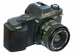 canon t50 film camera with lens