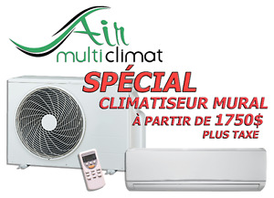 Climatiseur Mural - Thermopompe Murale - Climatisation