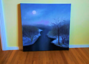 Beautiful Oil on Canvas Original Painting - Perfect Condition St. John's Newfoundland image 6