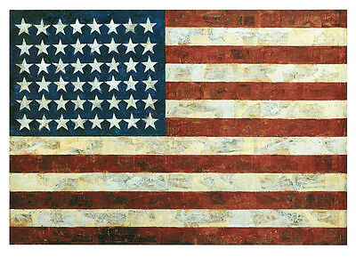 Flag, 1954 by Jasper Johns Art Print American USA Pop Poster 11x14