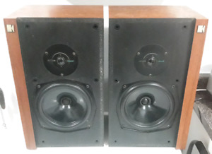 Rare Vintage KEF Corelli Bookshelf Speakers