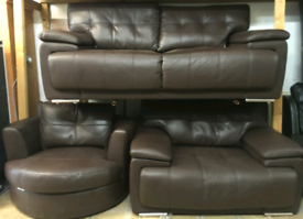 Chocolate leather suite