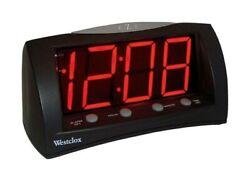 Westclox Extra Large Display Alarm Clock Electric - Battery Backup New