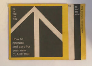 Clairtone booklet for sale.