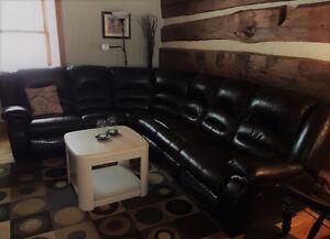Leather Corner Sectional Unit