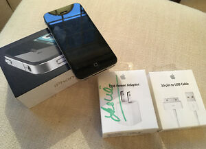I PHONE 4  16GB and NEW IN BOX CHARGER CABLE AND PLUG