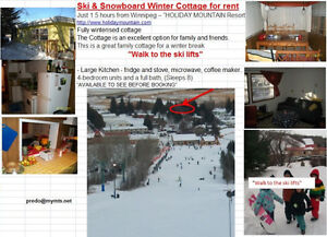 SNOWBOARD- WINTER COTTAGE FOR RENT