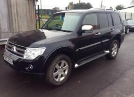 2007 Mitsubishi Shogun 3.2 DI-DC LWB Auto Warrior Black Sat Nav Leather 7 Seats