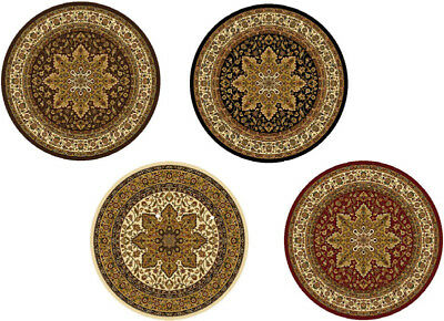 TRADITIONAL ROUND 5X5 ORIENTAL AREA RUG Persien CARPET - ACT