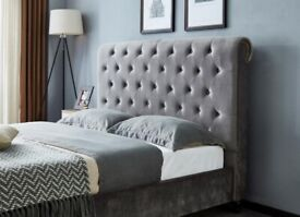 brand new Sleigh Style Bed frame available now in stock