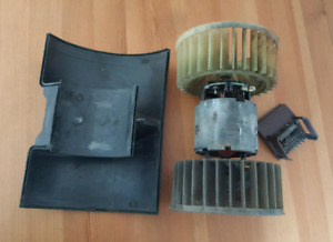 BMW E30 Bosch Heater Blower Motor with Cover and Resistor
