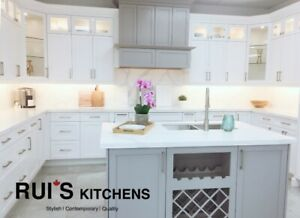 Solid Wood White/Grey Shaker Kitchen Cabinets Warehouse Sale