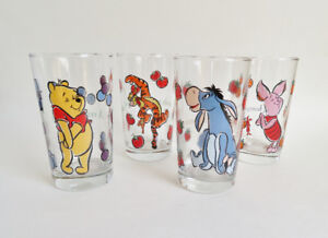 Winnie the Pooh Glasses Set of 4 Anchor Hocking
