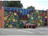 Wanted local wall art painter to paint Muriel graffiti artist
