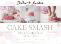 CAKE SMASH PHOTOGRAPHY SESSIONS $175