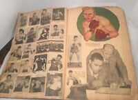 Boxing Scrap Book, Over 100 Pages Of Boxing History