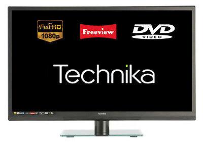 "Technika 22E21B-FHD/DVD 22"" Full HD 1080p Slim LED TV DVD Combi HDMI USB Port"