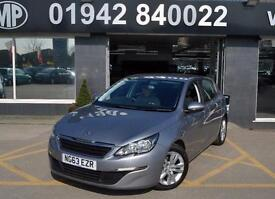2014--PEUGEOT 308 1.6HDI ( 92BHP ) ACTIVE (NAV) 5DR ECO DIESEL HATCH,1 OWNER,