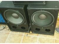 """2 x Bass Loudspeakers 15"""" just 150£"""