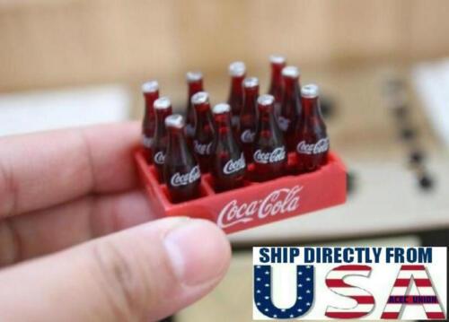 "12 x 1/12 Coke Bottle For 12"" Hot Toys Kumik Phicen Male Female Figure U.S.A."