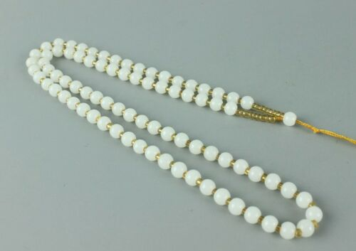 Exquisite Chinese hand-woven white jade necklace