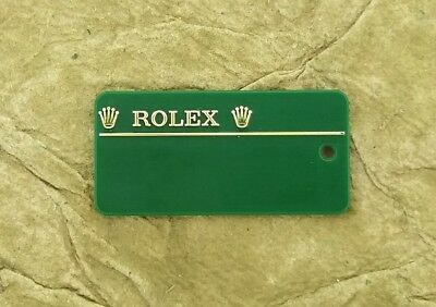 ROLEX 116234 Datejust 18Q Serial Number Hang Tag Seal Green w Barcode No String