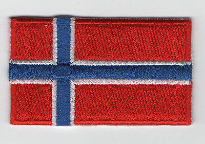 Embroidered NORWAY Flag Iron on Sew on Patch Badge HIGH QUALITY APPLIQUE